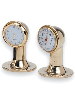 Miniature Cowl Vent Clock & Thermometer Set