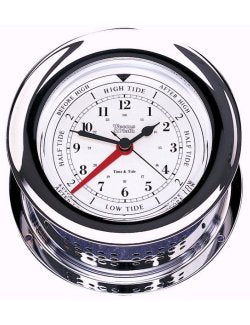 Weems & Plath Chrome Wall Clocks