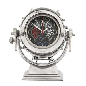 Vintage Ship's Throttle Post Table Clock - Nautical Luxuries