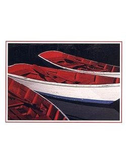 Red Dinghies Holiday Cards - Nautical Luxuries