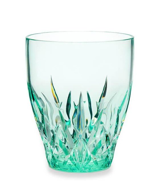 Crystal Cut Emerald Acrylic Barware
