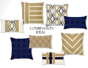 Basket Weave Sunbrella® Outdoor Pillows (6 Colors) - Nautical Luxuries