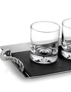 Yachtsman's Rope Whiskey Serving Set