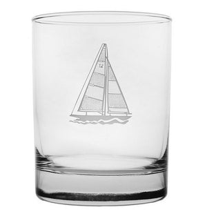 Sailboat Etched Barware Collection
