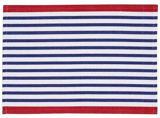 Patriotic Stripes Placemat And Napkin Sets