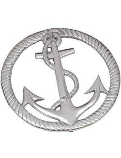Classic Fouled Anchor Aluminum 2-Pc. Trivet Set