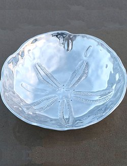 Sand Dollar Aluminum Serving Bowl - Nautical Luxuries