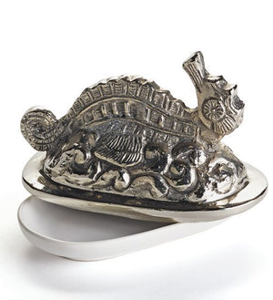Stately Seahorse Beach House Butter Dish - Nautical Luxuries
