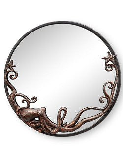 Denizen Of The Deep Coastal Wall Mirror/Round
