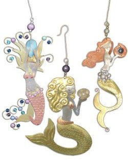 Metalcraft Collection: Mermaid Trio Ornament Set