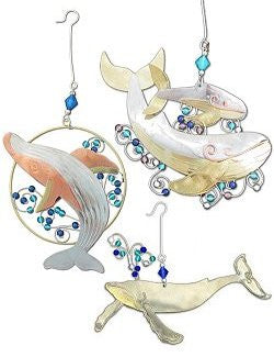 Metalcraft Collection: Playful Whales Ornament Set