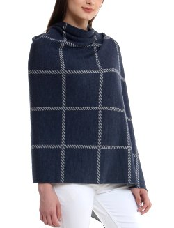 Yachting Weekender: Reversible Merino Wool Shawl - Nautical Luxuries