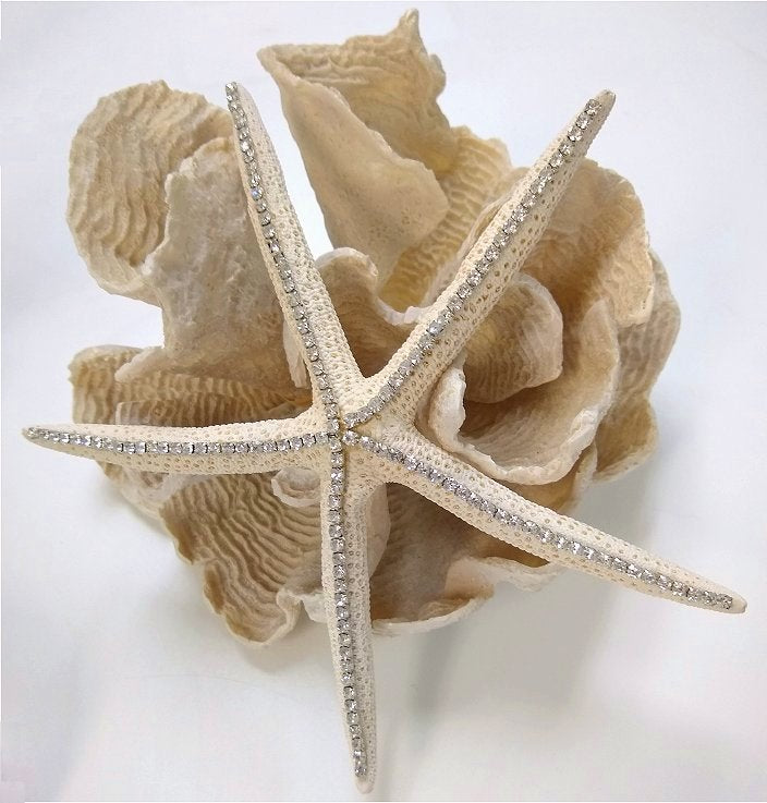 The Wishing Star Crystal Embellished Starfish - Nautical Luxuries