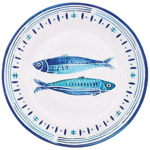 COASTAL CHIC NONBREAKABLE DINNERWARE