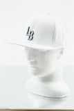 WHITE FLATBRIM SNAP / BLACK LB