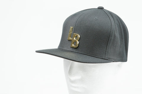 LB BLACK ON GREY SNAPBACK