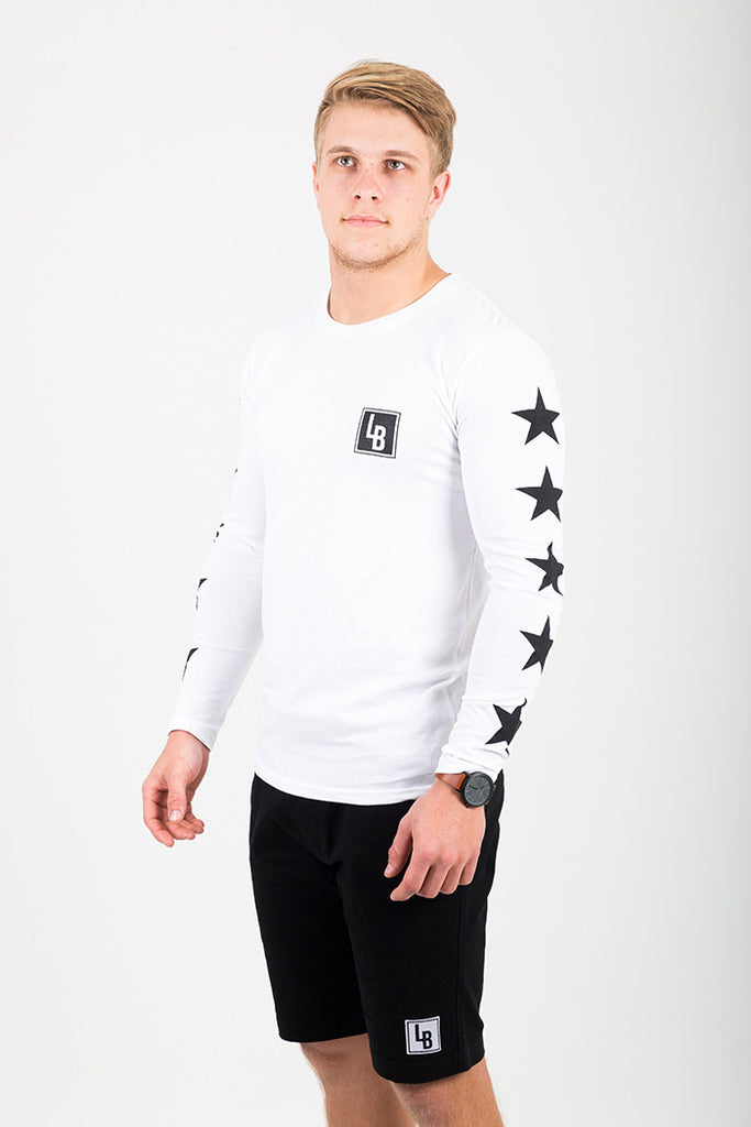 ROCKSTAR LONG SLEEVE TEE WHITE