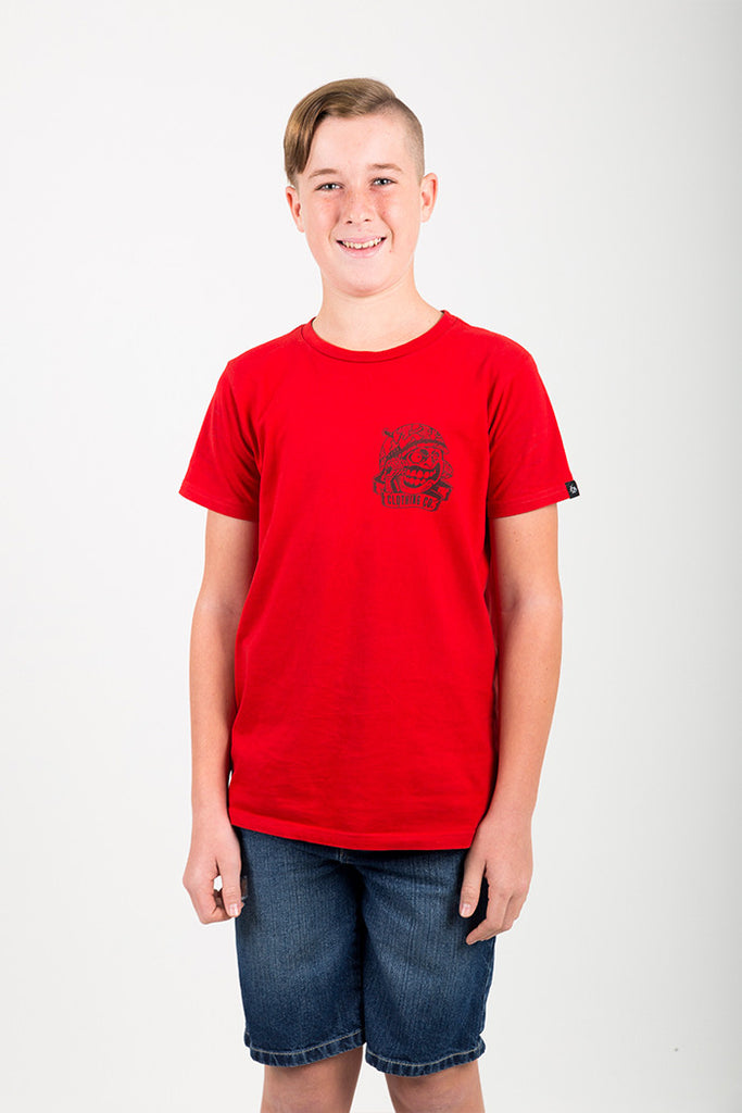 YOUTH RED COMMANDO TEE