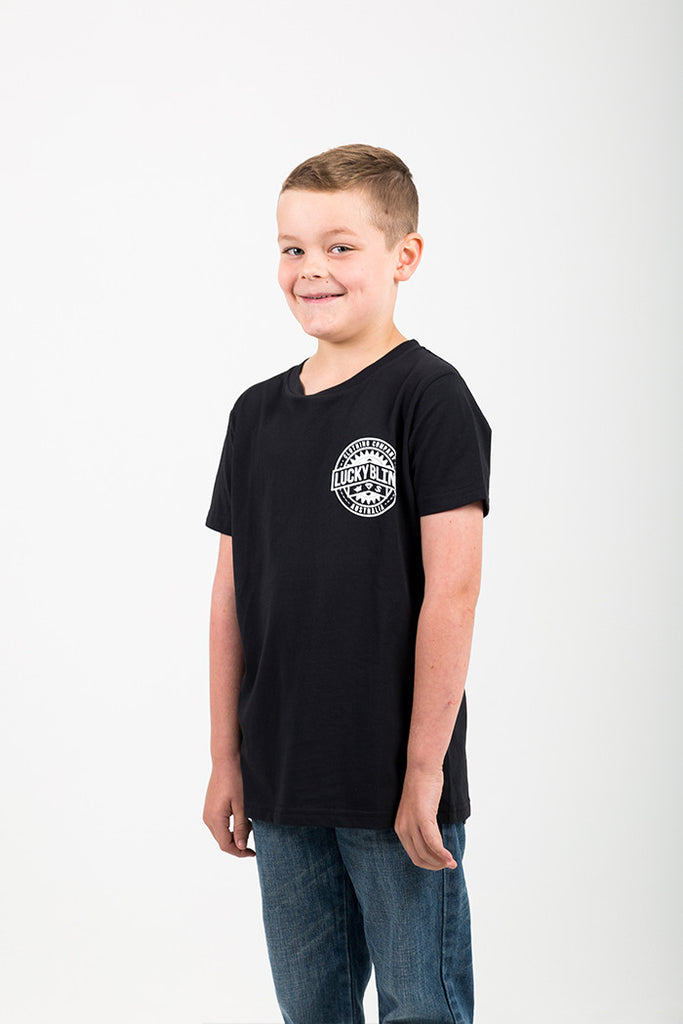YOUTH SPROCKET TEE BLACK