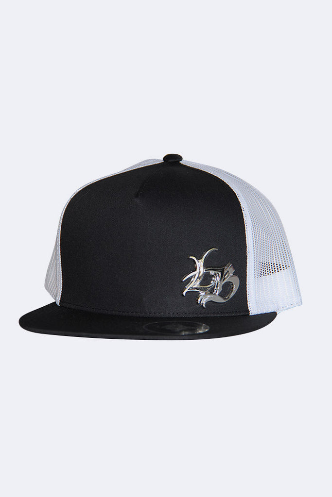 LB Chrome / Black & White Trucker