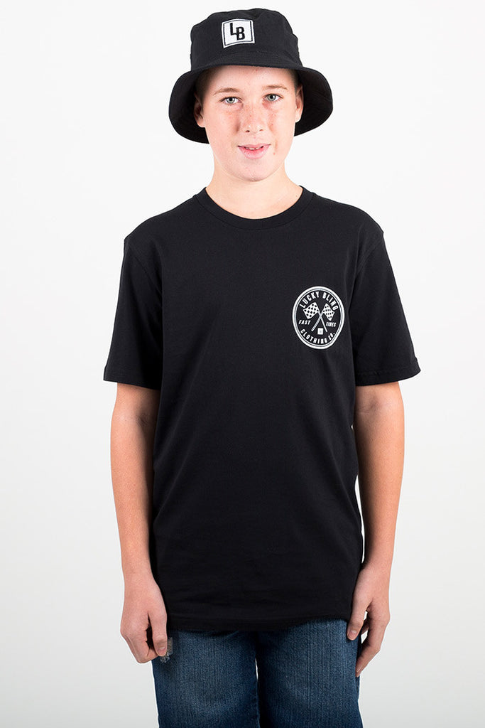 YOUTH FAST TIMES BLACK TEE