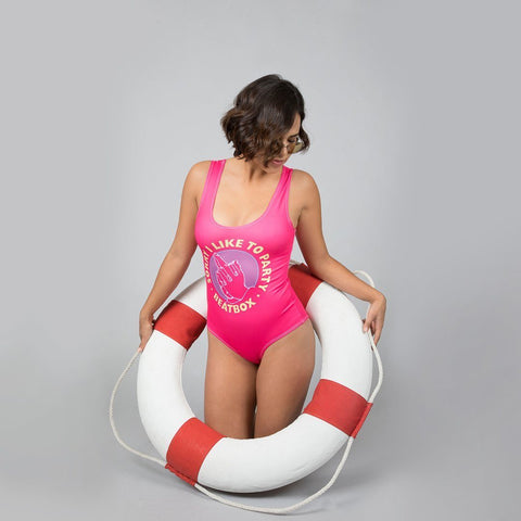SORRY FOR PARTYING - Women's One Piece Pink