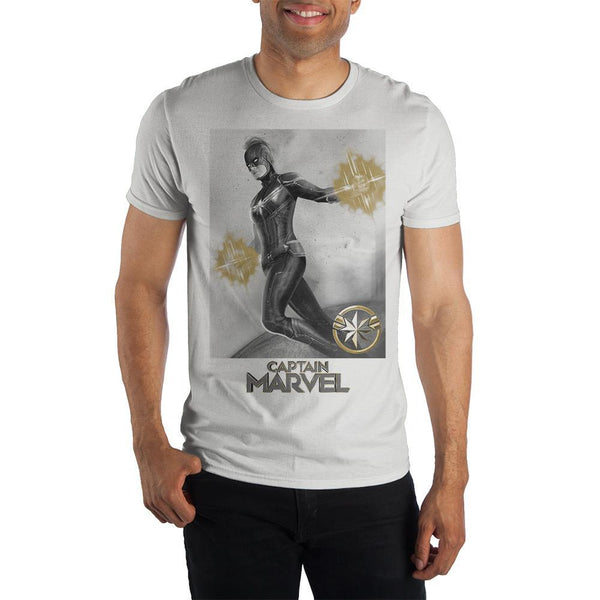 Marvel Clothing Captain Marvel Graphic Short-Sleeve T-Shirt