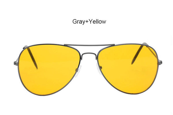 Yellow Aviation Sunglasses