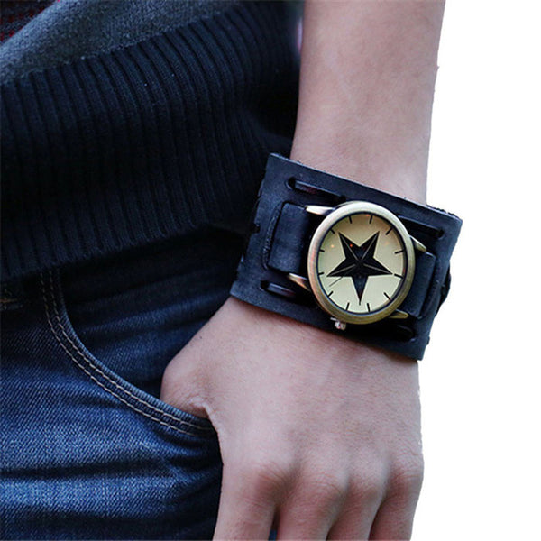 Blackstar Leather Watch