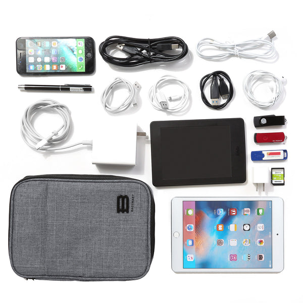 "BAGSMART Travel Electronics Cable Organizer Bag for 9.7"" iPad"