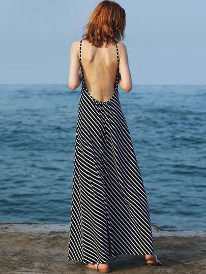 West Coast Backless Maxi Dress