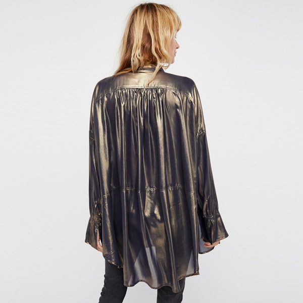 Rebel Idol Gold Blouse