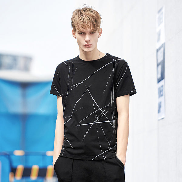 Wes Black Lines T-Shirt