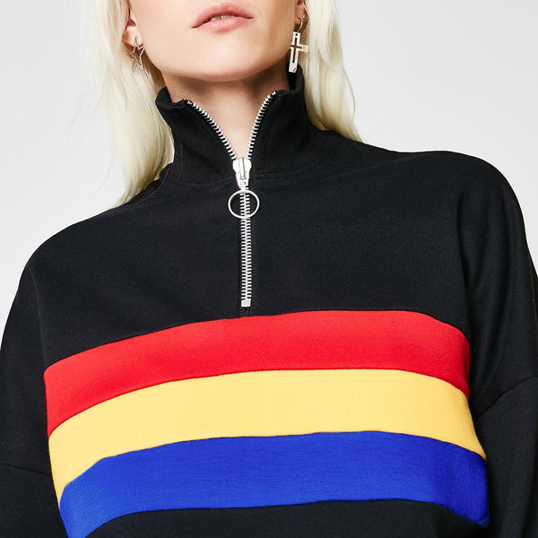 Oriol Rainbow Stripe Sweatshirt