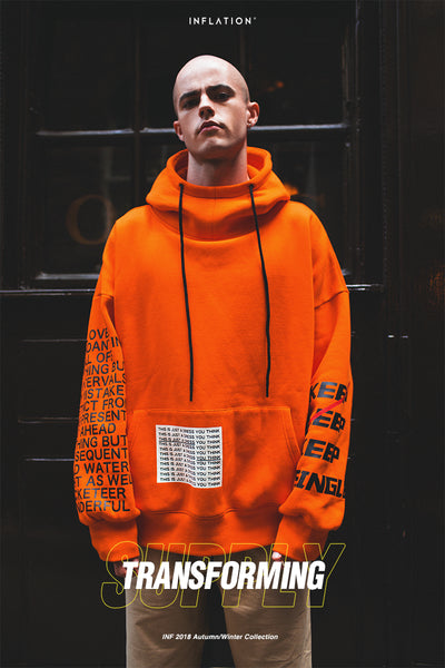 INFLATION Oversized Typography Hoodie