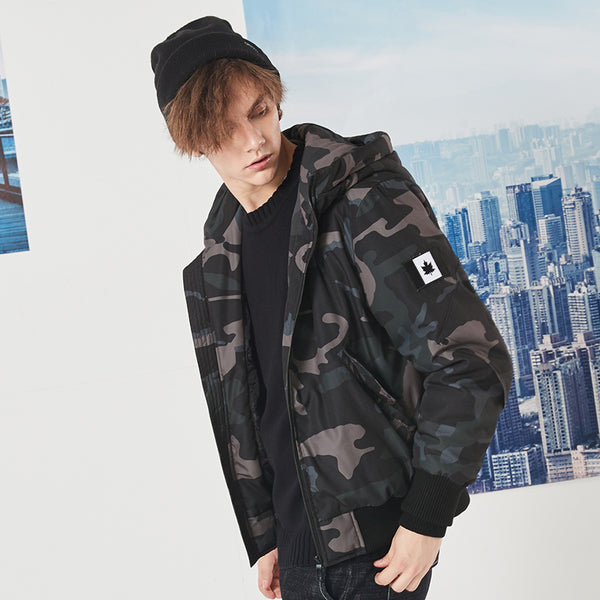 Burnt Road Camo Coat Hoodie