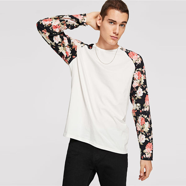SHEIN Men Floral T-Shirt