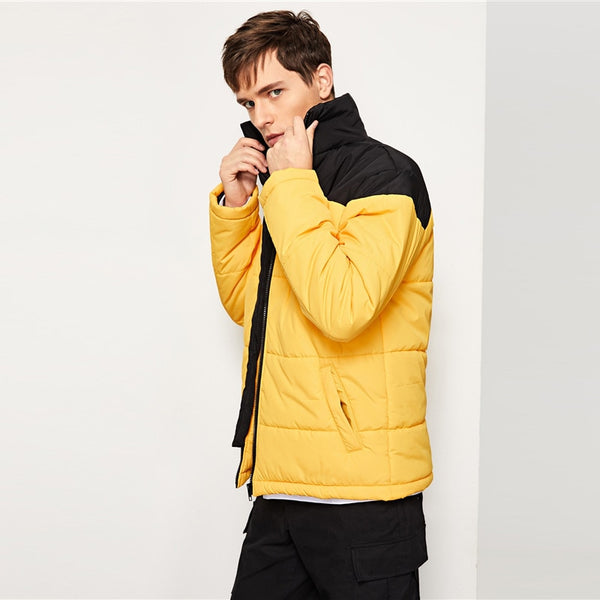SHEIN Men Yellow Highstreet Jacket