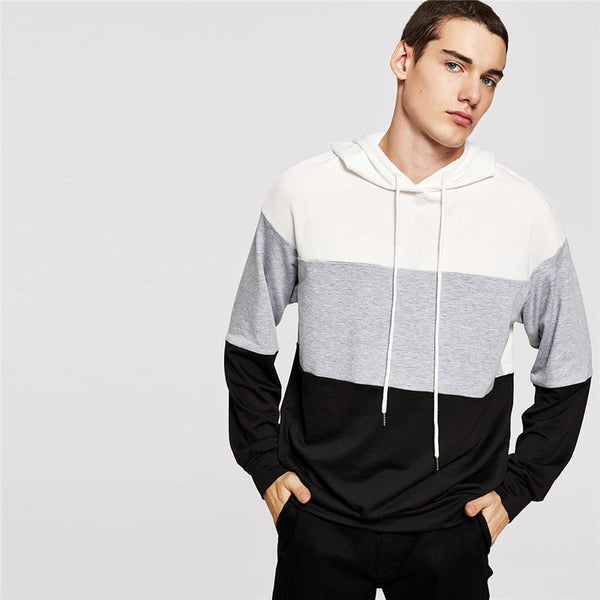 SHEIN Men Multicolor Casual Hoodie