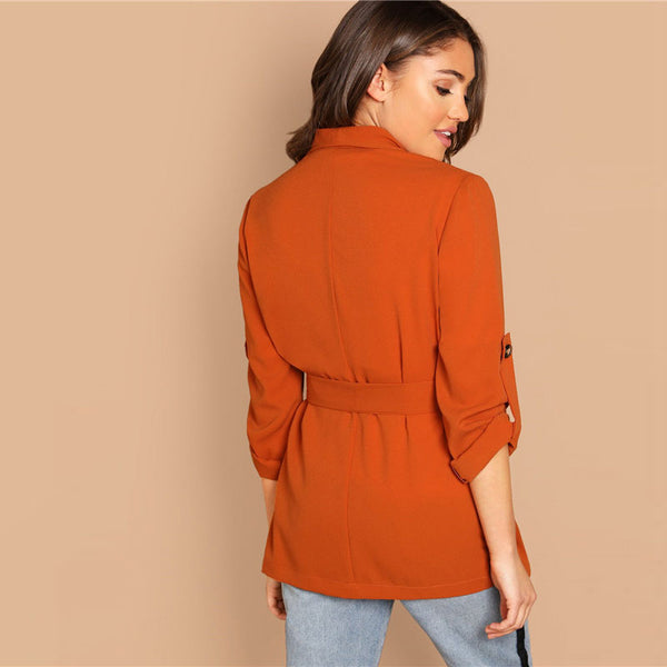 SHEIN Orange Coat