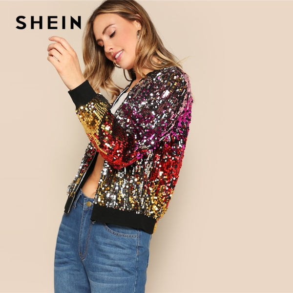 SHEIN Disco Fever Bomber Jacket