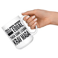 ALL MEN, LEARN KRAV MAGA Gift For KravMaga Teacher Instructor Student Man Guy * White Coffee Mug - ArtsyMod.com