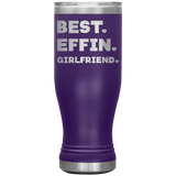 BEST EFFIN GIRLFRIEND With Hearts * Skinny Boho Vacuum Tumbler 20 oz. - ArtsyMod.com