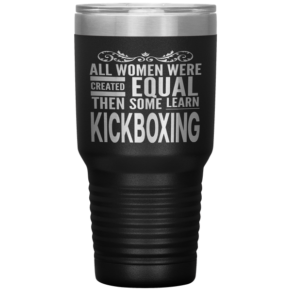 ALL WOMEN, LEARN KICKBOXING Gift For Instructor, Martial Arts Student * Vacuum Tumbler 30 oz. - ArtsyMod.com