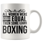 ALL WOMEN, LEARN BOXING Gift For Boxer Instructor Teacher Team Coach Student Woman Girl * White Coffee Mug - ArtsyMod.com
