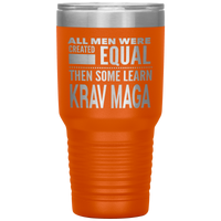 ALL MEN, LEARN KRAV MAGA Gift For Instructor, Student * Vacuum Tumbler 30 oz. - ArtsyMod.com
