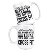 ALL WOMEN, LEARN CROSSFIT Gift For CrossFit Gym Teacher Student Coach Instructor Teacher Woman Girl * White Coffee Mug - ArtsyMod.com