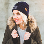 Own Your Style Personalized Monogram Beanie, Modern & Stylish Custom Soft Cable Knit Beanies - ArtsyMod.com