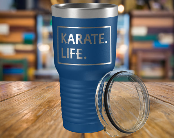 KARATE LIFE Gift For Martial Arts Sensei, Students * Vacuum Tumbler 30 oz. - ArtsyMod.com