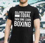 ALL MEN, LEARN BOXING Gift For Coach, Boxer, Student * Short-Sleeve T-Shirt - ArtsyMod.com